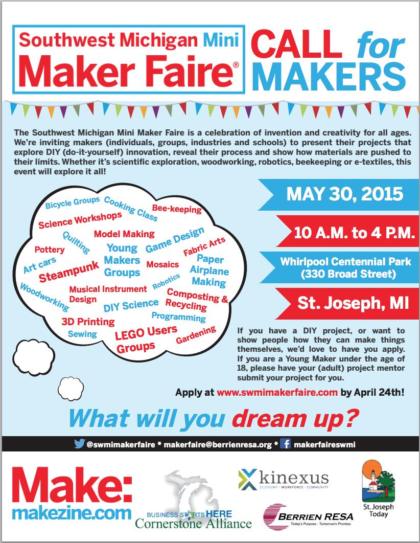 Southwest Michigan Mini Maker Faire Make Play Hack